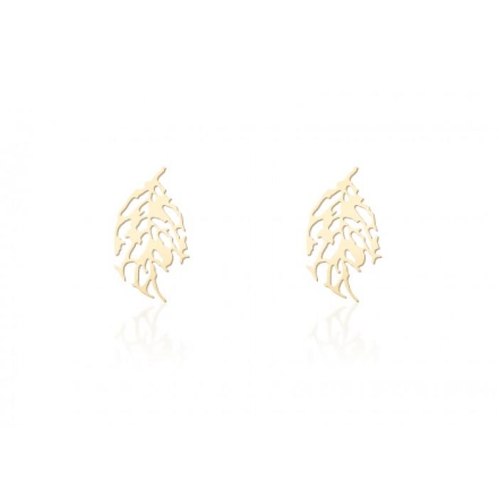 Серьги - SKELETON LEAF (золото)