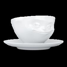 Чашка с блюдцем для эспрессо Tassen Grinning