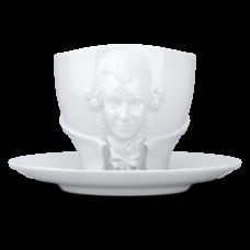 Чашка с ручкой и блюдцем для TALENT Tasse - Wolfgang Amadeus Mozart