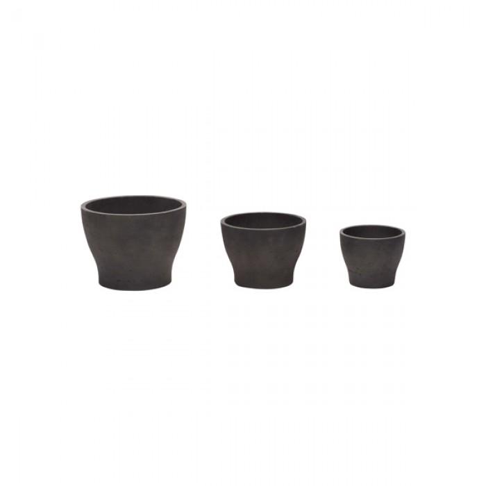 Цветочный горшок CERAMIC BLACK S/3