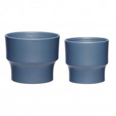 Цветочный горшок CREAMIC BLUE S/2