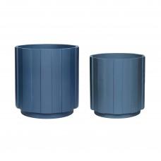Цветочный горшок PLASTER BLUE S/2