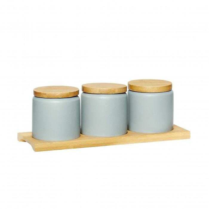 Набор баночек на подставке BLUE